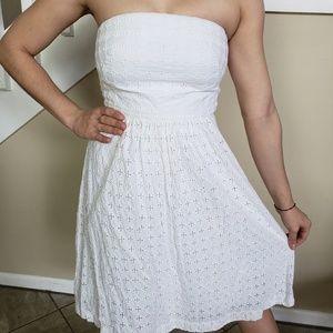 Banana Republic Dresses - White banana republic strapless dress